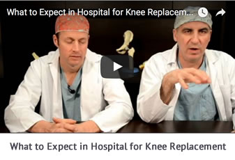 Video Button What to Expect in Hospital for Knee Replacement Talking with Docs